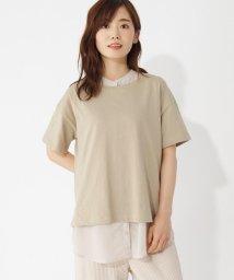 grove/クルーネック半袖Tシャツ+シフォンブラウス/503392374