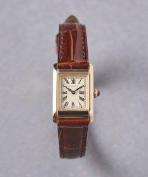 UNITED ARROWS/UBCB スクエア レザー 腕時計 GLD†/503394161