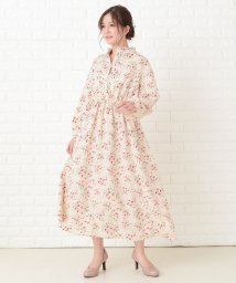 Lace Ladies/花柄フレア 長袖ロングワンピース/503355836