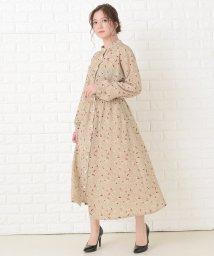 Lace Ladies/花柄フレア 長袖ロングワンピース/503355837
