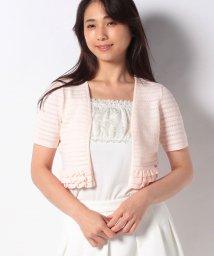 MISS J/【洗える】ハノン タックボーダーニットボレロ/503390040