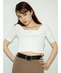 EMODA/フロントボタンフィットTシャツ/503395218