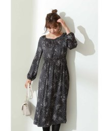 PROPORTION BODY DRESSING/モノトーンフラワープリントワンピース/503395342