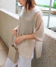 and Me.../シアー半袖オーバーサイズTシャツ ブラウス/503396286