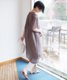 and Me.../シアー半袖オーバーサイズワンピース/503396287