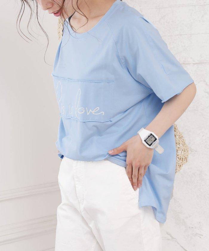 【20%OFF】 ガーリードール ロゴTシャツ レディース ライトブルー L 【Girly Doll】 【タイムセール開催中】