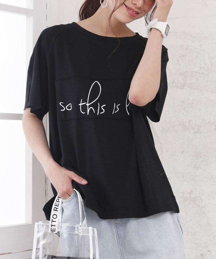【20%OFF】 ガーリードール ロゴTシャツ レディース ブラック L 【Girly Doll】 【タイムセール開催中】