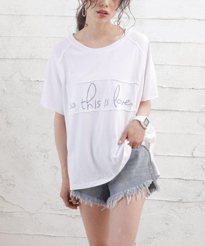 【20%OFF】 ガーリードール ロゴTシャツ レディース ホワイト M 【Girly Doll】 【タイムセール開催中】