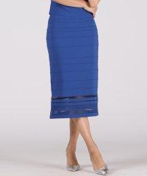 Viaggio Blu/【大きいサイズ】シースルーボーダースカート/503396933