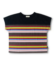 branshes/【プチプラ】ボーダー切り替え半袖Tシャツ/503398334
