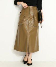 VERMEIL par iena/《予約》フェイクレザーアウトポケットスカート◆/503399072
