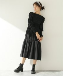JOURNAL STANDARD/【AKIRA NAKA/アキラ ナカ】Palin shirred dress BK:ワンピース/503399374