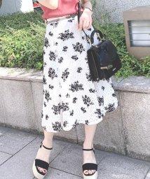 MISCH MASCH/《田中みな実さん着用》フロッキー花柄レーススカート/503266153