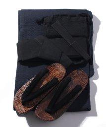 STYLEBLOCK/シジラ織り浴衣5点セット(浴衣、帯、巾着袋、下駄、扇子)/503363169