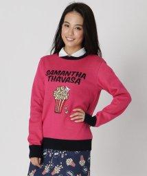 Samantha Thavasa UNDER25&NO.7/ポップコーンジャガードクルーニット/503399760