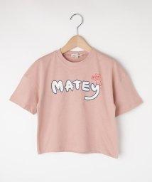 SHOO・LA・RUE(Kids) /【80-120cm】五分袖ロゴTシャツ/503400164