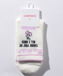 Lovetoxic/ロゴテープつきチェリークルーソックス/503390529
