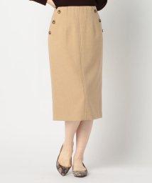 NOLLEY'S/ヘリンボンサイド釦タイトスカート/503391995
