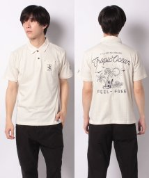 STYLEBLOCK/コットン天竺バック刺繍4ボタン半袖ポロシャツ/503389627
