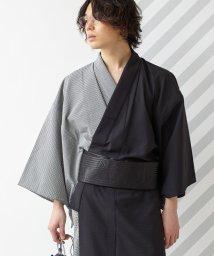 FURIFU/メンズ浴衣「片身細チェック」 / 夏・花火・納涼船・男性/503250124