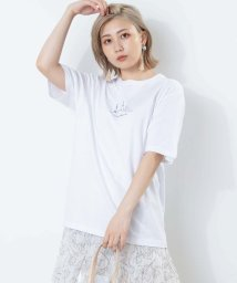 WEGO/シティーモチーフ刺繍Tシャツ/503375218