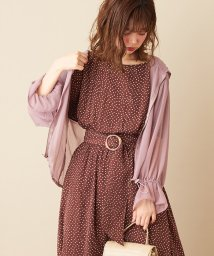 NICE CLAUP OUTLET/【natural couture】シワ加工シフォンパーカー/503397497