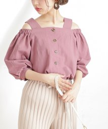 NICE CLAUP OUTLET/【natural couture】着方いろいろ楽しめるブラウス/503397499