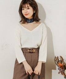 NICE CLAUP OUTLET/【natural couture】スカーフ付き2WAYTシャツ/503397508