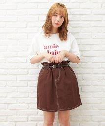 INGNI/ベルト付台形スカート/503398911
