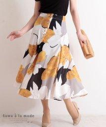 Sawa a la mode/花模様のフレアAラインスカート/503400761