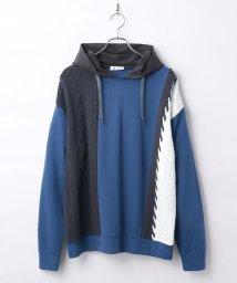 tk.TAKEO KIKUCHI/L&S ニットドッキングフーデットプルオーバー/503358707