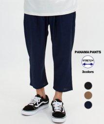 Amerikaya/パナマ素材 ストレッチクロップド パンツ/503380214