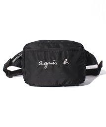 agnes b. ENFANT/GL11 E BANANE ロゴ刺繍ボディバッグ/503390188