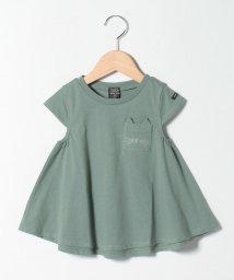 petit main/オーガニックコットン 吸汗涼感 ネコポケットAラインTシャツ/503396038
