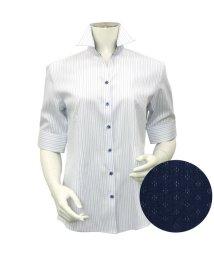 BRICKHOUSE/シャツ 五分袖 形態安定 スキッパー オーガニックコットン レディース/503403471