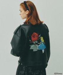 AG by aquagirl/【DISNEY/Lサイズあり】「ふしぎの国のアリス」刺しゅうライダースジャケット/503404705