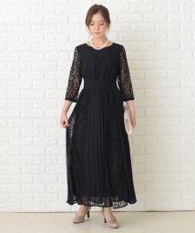Lace Ladies/レース袖 ロング丈総レース ワンピース・ドレス/503355843