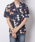 Amerikaya/オープンカラーシャツ レコード柄 ユニセックス/503380251