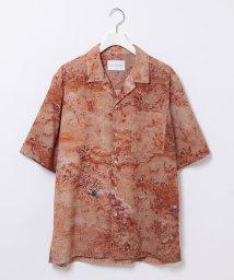 ADAM ET ROPE'/ネイチャー総柄 ドレープ オープンカラーシャツ/503397076