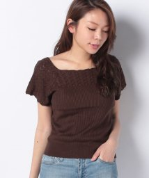 NICE CLAUP OUTLET/【natural couture】透かし*リブお上品ニット/503398663