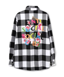 LHP/AntiSocialSocialClub/アンチソーシャルソーシャルクラブ/Frantic Flannel Shirts/グラフィックプリントチェックシャツ/503404833