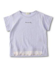 branshes/【プチプラ】前裾レース半袖Tシャツ/503406120