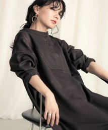 Bou Jeloud/【WEB限定】配色ステッチロングシャツワンピース/503406283