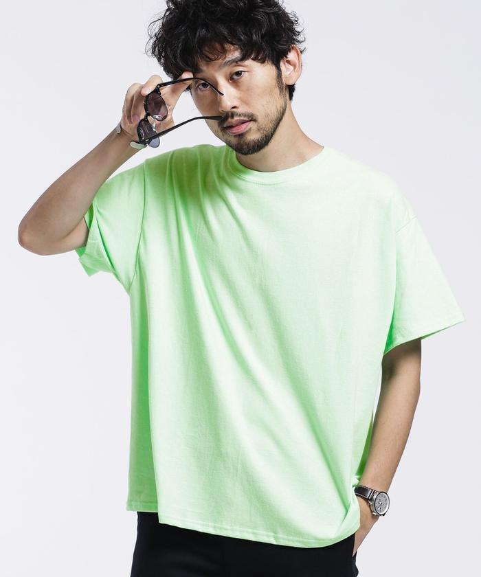 ナノ・ユニバース GILDANビッグシルエットリメイクTシャツ/半袖 メンズ ミント2 M 【nano・universe】