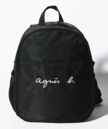 agnes b. ENFANT/GL11 E BAG ロゴ刺繍ミニリュックサック/503390187