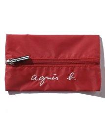 agnes b. ENFANT/GL11 E TROUSSE ロゴ刺繍ペンケース/503390190