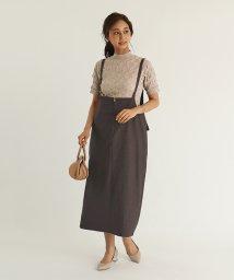 SCOTCLUB/GRANDTABLE(グランターブル) バックリボンボックスジャンパースカート/503403260