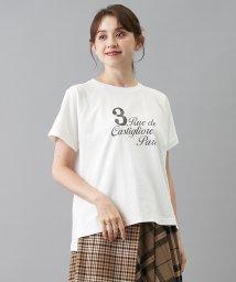 en recre/ロゴプリントTシャツ/503401561