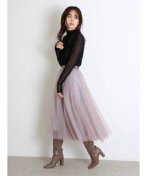 SNIDEL/チュールパネルスカート/503412959