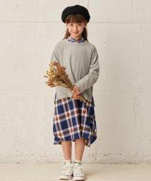 3can4on(Kids)/【90-140cm】バンドカラーチェックワンピース/503412977